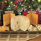 Baby Swiss, Big Red Cheddar and Vintage Cheddar Cheese Wheels