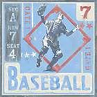 Baseball Game Ticket Wall Art