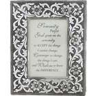 Metal Framed Serenity Prayer