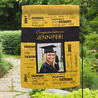 School Spirit Personalized Photo Garden Flag