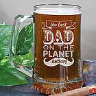 Engraved Best Dad Glass Mug