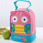 Personalized Girl's Owl Lunch Bag