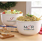 Personalized Chef's Monogram Serving Bowl