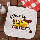 King of the Grill Personalized Potholder