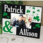 Just the Two of Us Shamrocks Personalized Picture Frame