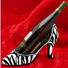 Zebra Couture Wine Bottle Holder