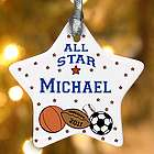 Personalized Sports Star Ornament