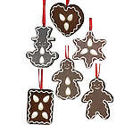 Gingerbread Cookie Christmas Ornament Set