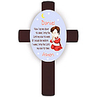 Personalized Brunette Boy's Bedtime Prayer Cross