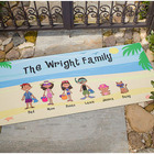 Personalized Beach Vacation Family Doormat