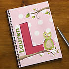Owl About You Personalized Large Notebooks