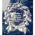 Personalized Silvertone Wreath Ornament