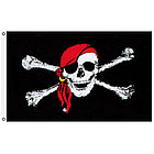 3' x 5' Jolly Roger Red Hat Pirate Flag