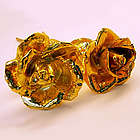 2 Gold Preserved Roses
