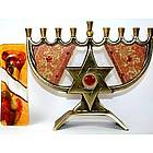 Star Menorah & Mezuza Gift Set