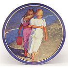 Best Friends Porcelain Plate