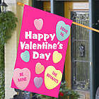 Personalized Candy Hearts House Flag