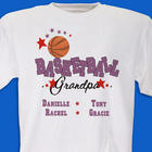 Personalized Basketball Family T-Shirt