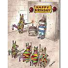 Pinata Firing Squad Funny Greeting Card