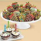 Birthday Cake Pops and Birthday Strawberries
