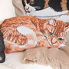 Cotton Jacquard Woven Tapestry Cat Throw Pillow