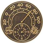 Sun & Wind Indoor/Outdoor Wall Clock & Thermometer