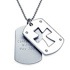 Personalized Stainless Dog Tags with Cut-Out Cross