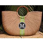 Monogrammed Shorty Basket Bag