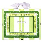 Baptism/Christening Record Print in Green Stripe
