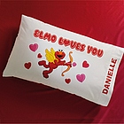 Personalized Elmo Valentine Pillowcase