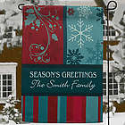 Happy Holidays Personalized Garden Flag