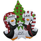Our 1st Christmas Ornament Penguins Holding Stars