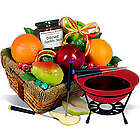 Fruit and Chocolate Dipping Delight Gift Basket
