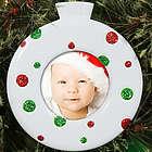 Polka Dot Photo Christmas Ornament