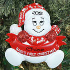 Personalized Snowbaby First Christmas Ornament