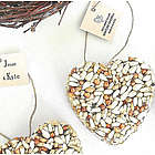 Personalized Bird Seed Heart Party Favor