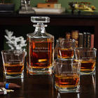 Personalized Carson Decanter with Rutherford Whiskey Glasses