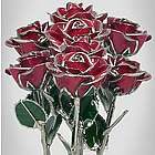 20th Anniversary Platinum Edged Preserved Rose Bouquet