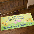 Grandchildren Spoiled Here Large Personalized Doormat