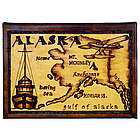 Alaska Map Leather Photo Album in Natural