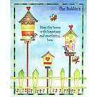 Birdie Homes and Gardens Personalized Art Print