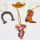 Cowboy Ornaments Set