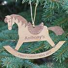 Personalized Rocking Horse Wood Ornament