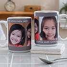 Picture Perfect Personalized Three Photo Mug