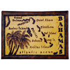 Bahamas Map Leather Photo Album in Natural