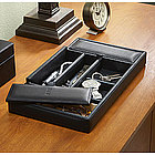 Personalized Leather Dresser Valet Tray
