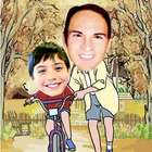 Your Photo in a Learn To Ride Caricature