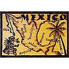 Mexico Map Leather Photo Album in Natural