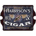 Personalized Vintage Pub Sign - Partriot Cigar Label