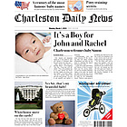 Baby Boy Birth Announcement Fake Newspaper Page